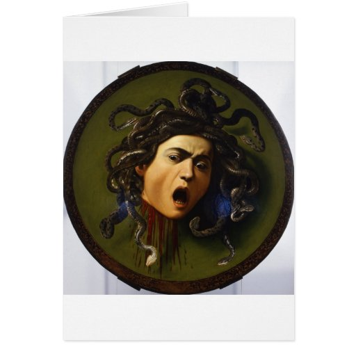 Medusa 1595 - 1598 by Caravaggio Merisi Card