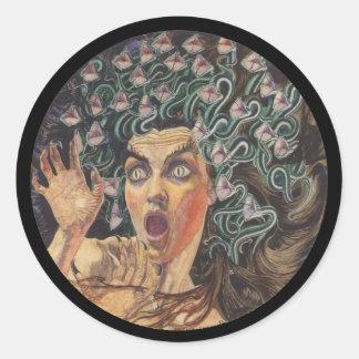 Medusa 1895 classic round sticker