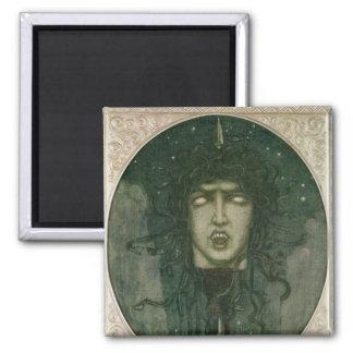 Medusa, 1919 square magnet