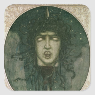 Medusa, 1919 square sticker