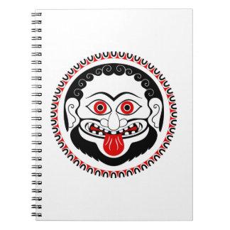medusa 3.jpg spiral notebook