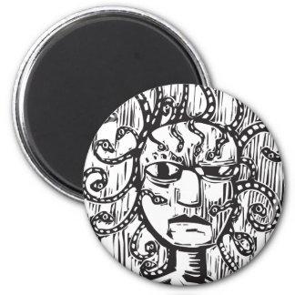 Medusa 6 Cm Round Magnet