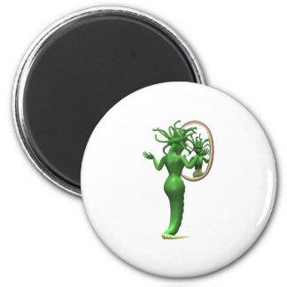 Medusa and Mirror Refrigerator Magnet