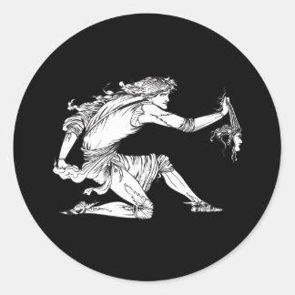 Medusa Aubrey Beardsley Classic Round Sticker