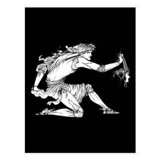 Medusa Aubrey Beardsley Postcard