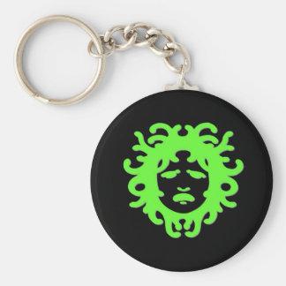 Medusa Basic Round Button Key Ring