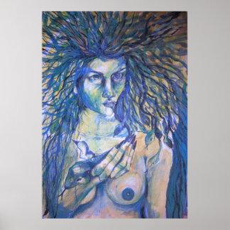 Medusa blue poster