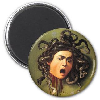 Medusa, Caravaggio 6 Cm Round Magnet