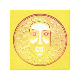 Medusa Coin canvas print