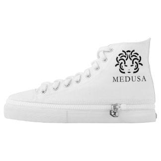 """MEDUSA"" Custom Zipz High Top Shoes For Men"