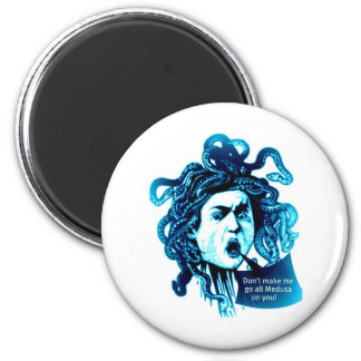 MEDUSA Don't Make me... Vintage Mythological print Fridge Magnets
