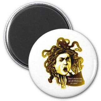 MEDUSA Don't Make me... Vintage Mythological print Fridge Magnet