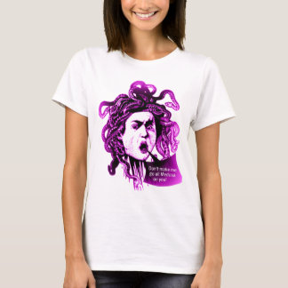 MEDUSA Don't Make me... Vintage Mythological print T-Shirt