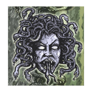 Medusa Gorgon Gallery Wrapped Canvas