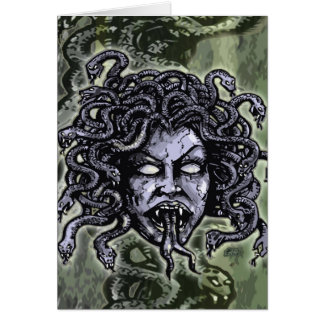 Medusa Gorgon Greeting Card