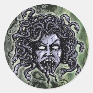 Medusa Gorgon Round Stickers