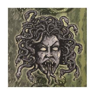 Medusa Gorgon Wood Canvas