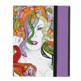 Medusa Greek mythology painting snake witch horror iPad Case