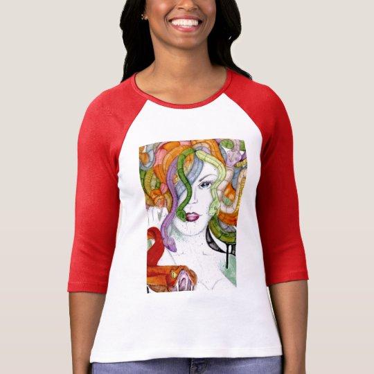 Medusa hand painted Greek mythology T-Shirt