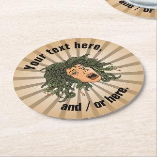 Medusa Head Round Paper Coaster