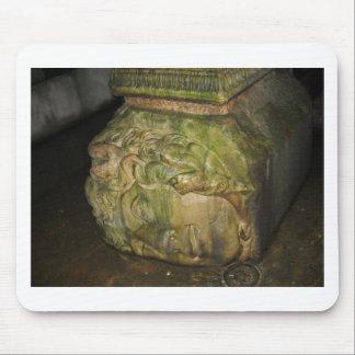 Medusa Head Sculptures Basilica Cistern Istanbul Mouse Pad