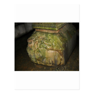 Medusa Head Sculptures Basilica Cistern Istanbul Postcard