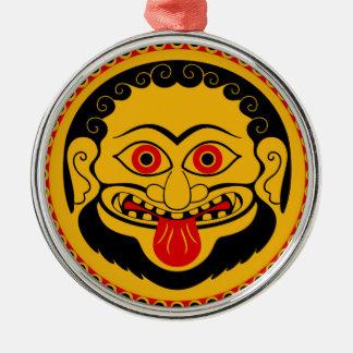 Medusa head Silver-Colored round decoration