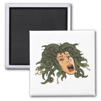 Medusa Head Square Magnet
