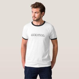 """""""MEDUSA"""" Men's Basic Ringer T-Shirt, White/Black T-Shirt"""