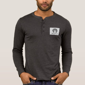 """MEDUSA"" Men's Long Sleeve Shirt, Dark Grey T-Shirt"