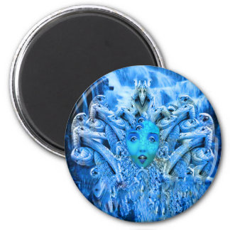 Medusa Metamorphosis 6 Cm Round Magnet