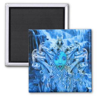 Medusa Metamorphosis Square Magnet