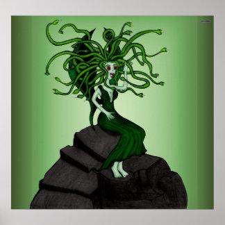 Medusa On The Rocks Print