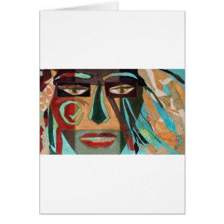 Medusa. portrait of a shaman greeting cards