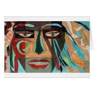 Medusa. portrait of a shaman cards