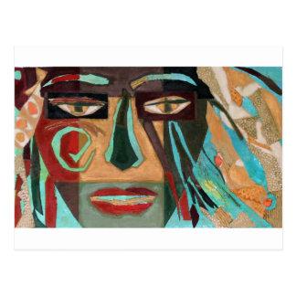Medusa. portrait of a shaman post card
