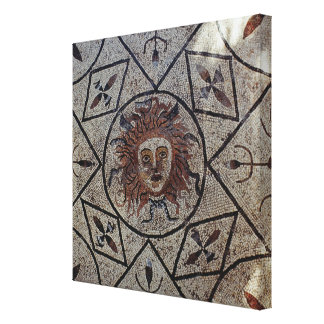 Medusa, Roman mosaic from the House of Orpheus Gallery Wrapped Canvas