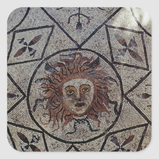 Medusa, Roman mosaic from the House of Orpheus Square Sticker
