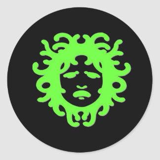 Medusa Round Sticker