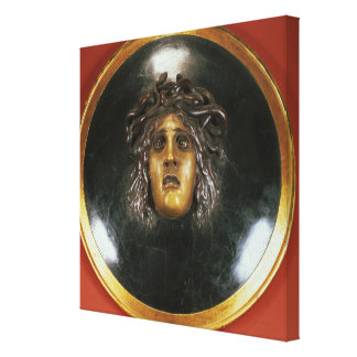 Medusa shield canvas print