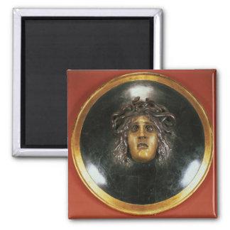 Medusa shield square magnet