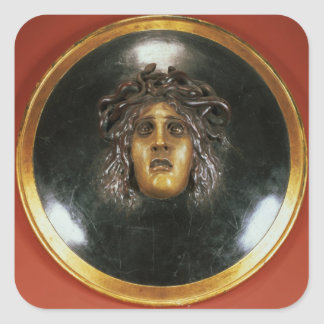 Medusa shield square sticker