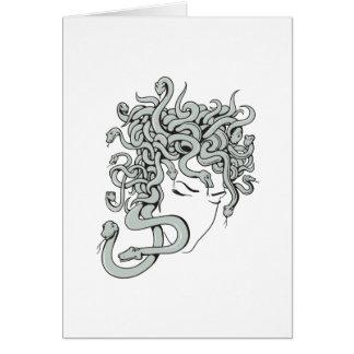 medusa snake lady vector illustration greeting card