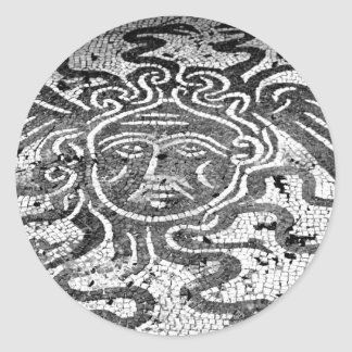 Medusa the Gorgon Classic Round Sticker