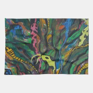 Medusa tree tea towel
