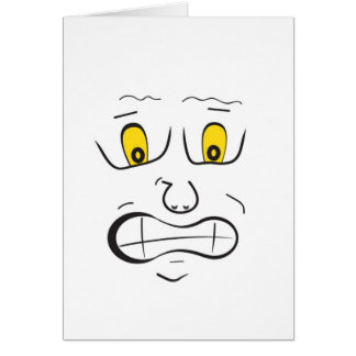 Meee frightened greeting cards