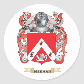 Meehan Coat of Arms (Family Crest) Round Stickers