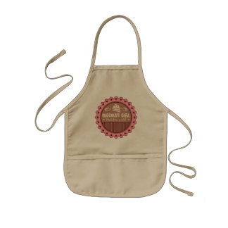Meemas Girl Made From Scratch Funny Kids Apron