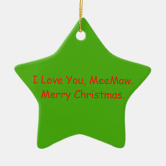 MeeMaw Christmas Gift Ornament