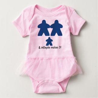 meeple make three baby tutu baby bodysuit